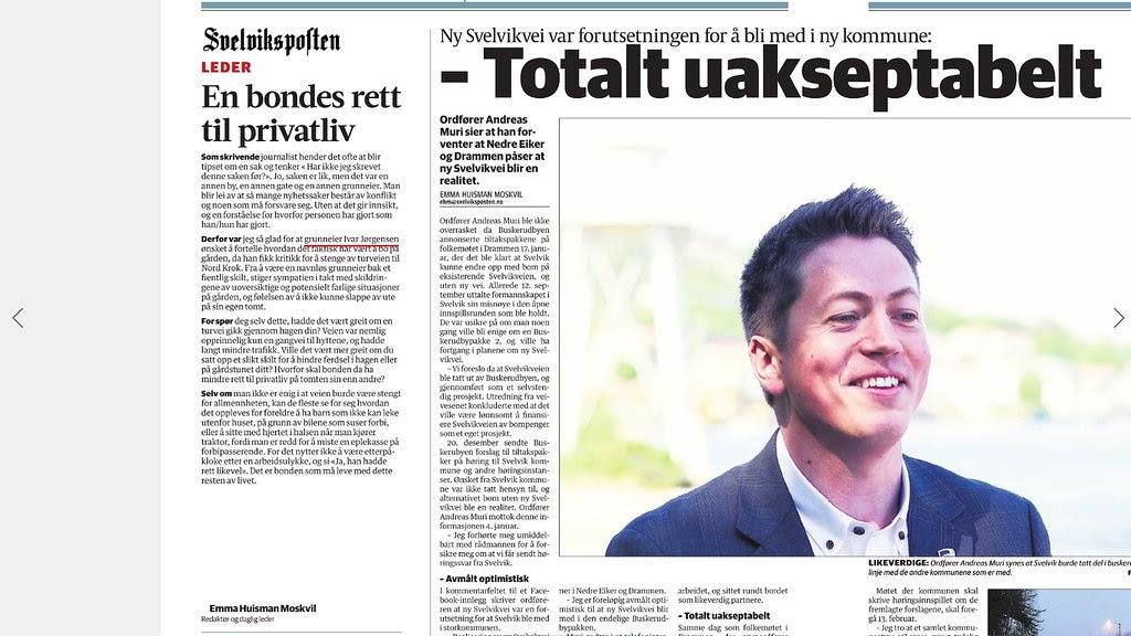 aced464a johncons: Denne lederen har jeg ikke sett i Svelviksposten sin nettutgave