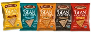 bean and rice chips