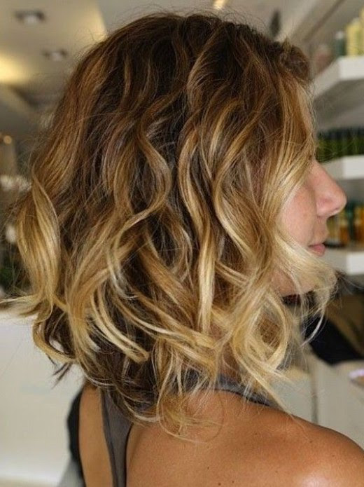 Layered Messy Ombre Hair with Waves - Hairstyles Weekly