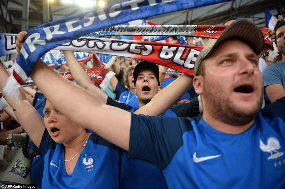 France fans created an immense noise inside Stade Velodrome prior to kick-off as they looked for a rare tournament win over Germany