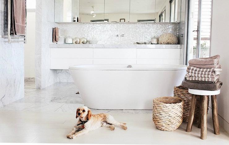 Floating Bathroom Vanity - Modern - bathroom - Hannah Blackmore ...