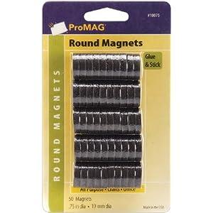 "ProMAG 3/4"" Round Magnet 50-Pack"