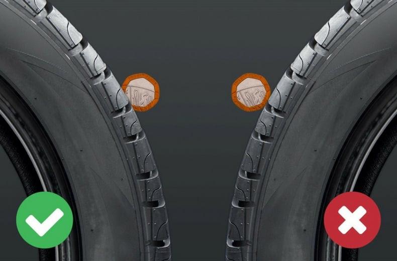 Checking Legal Tyre Tread Depth Rac Drive
