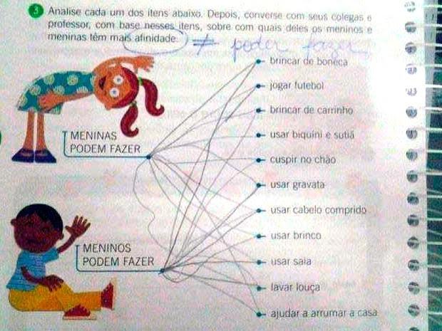 Questão está em um livro de ciências da Editora Positivo (Foto: Reprodução/Facebook de Soraya Souza)