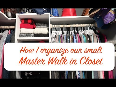 How I Organize and Utilize the Space in our Small Master Closet