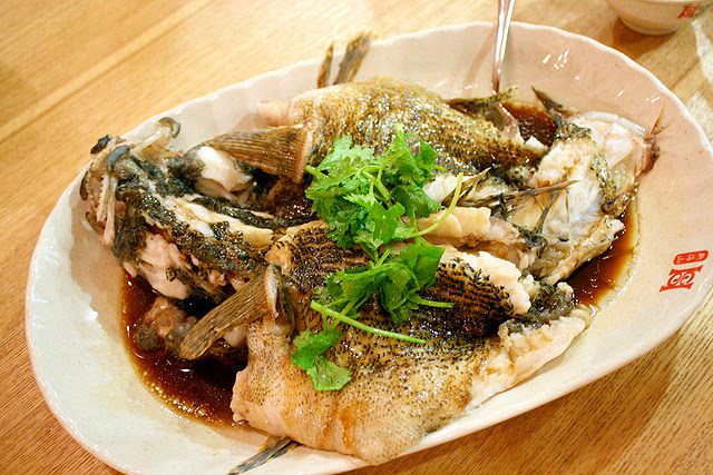 Steamed Soon Hock with Chef secret sauce