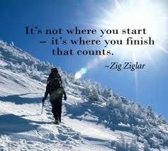 Its Not Where You Startits Where You Finish That Counts