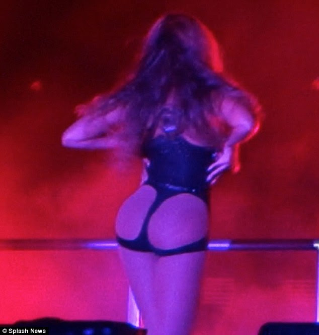 Peek-a-bum! Beyonce's costume left little to the imagination