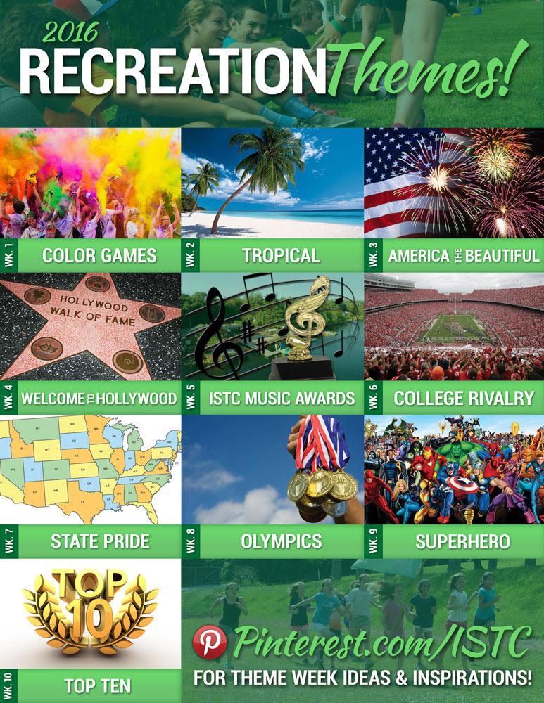 Summer 2016 Recreation Themes International Sports Training Camp