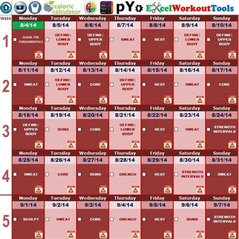 piyo  week calendar ten  printable calendar