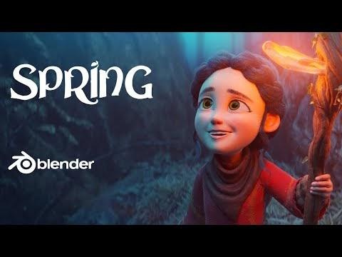 Spring è il nuovo cortometraggio animato realizzato con Blender