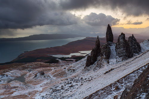 Old Man of Storr, Winter Sunrise by Ally Mac
