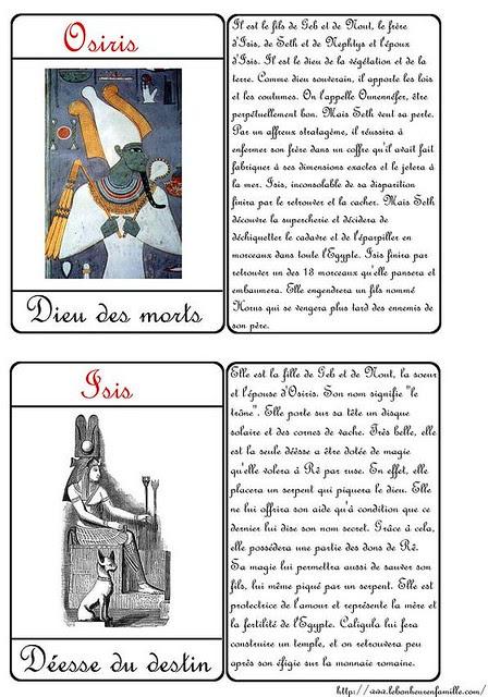 VVVCartes dieux égyptiens 1