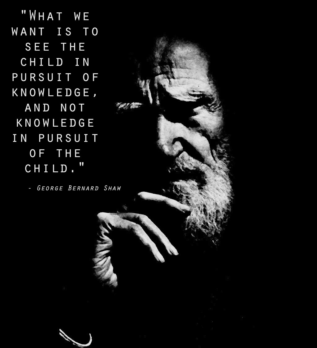 What We Want To See Is The Child In Pursuit Of Knowledge George