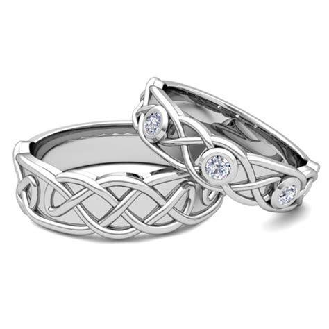 Matching Wedding Band Platinum Celtic Diamond Wedding Ring