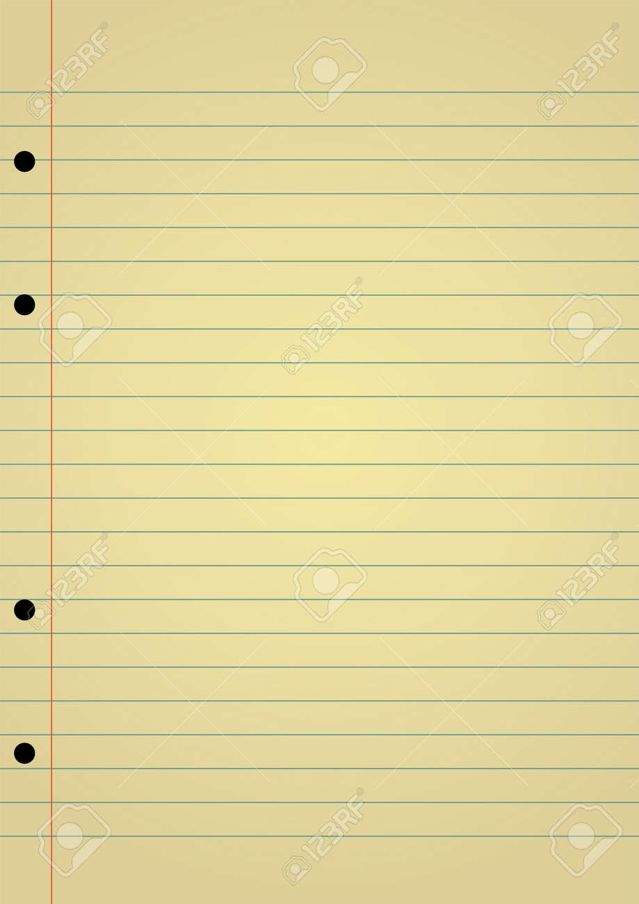 Editable Background - Yellow Notebook Paper With Space For Your ...