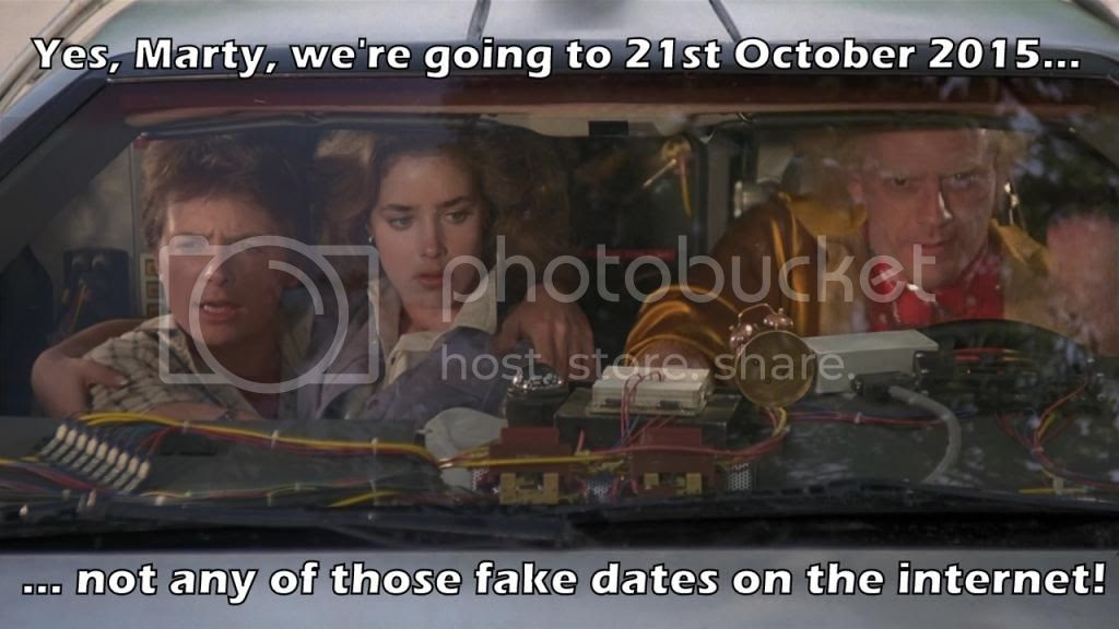 Back to the Future 2, 26th October 2015, real date,