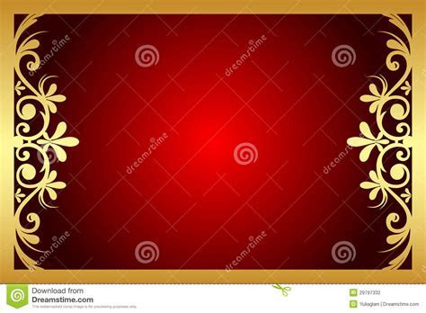 Red And Gold Floral Frame Stock Photography   Image: 29797332
