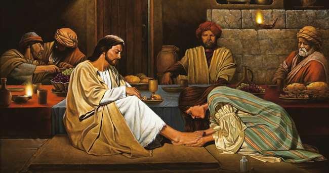 Risultati immagini per immagini belle: la donna che lava e profuma i piedi di Gesù che abbraccia