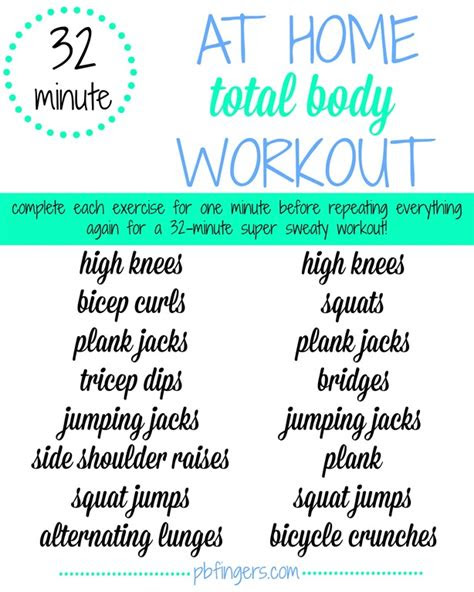 minute  home workout peanut butter fingers