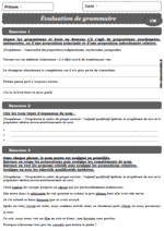 EVALUATIONS CM 2EME TRIMESTRE