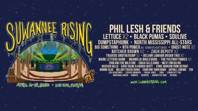 Suwannee Rising Festival Announces Lineup: Phil Lesh & Friends, Lettuce, Soulive and More