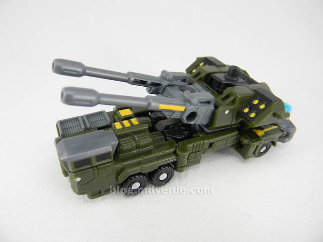 Transformers Bombshock con Combaticons Power Core Combiners - modo alterno