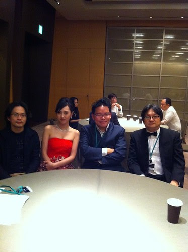 At the waiting room with Kiki, Kah Wai, Ono before the Green Carpet event