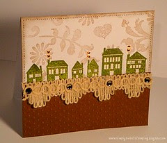 Speckled Ornaments Row Houses Card