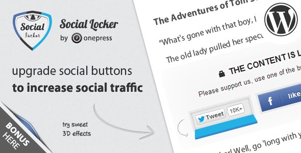 Wordpress Social Locker Plugin Review | Social Content Locker WP 2014