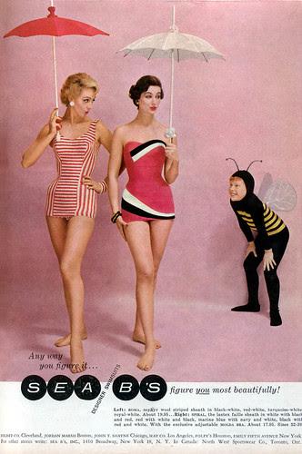 Glamour Magazine Swimsuit Ad, 1957