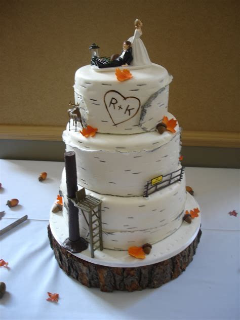birch bark wedding cake   Cakewalk Catering