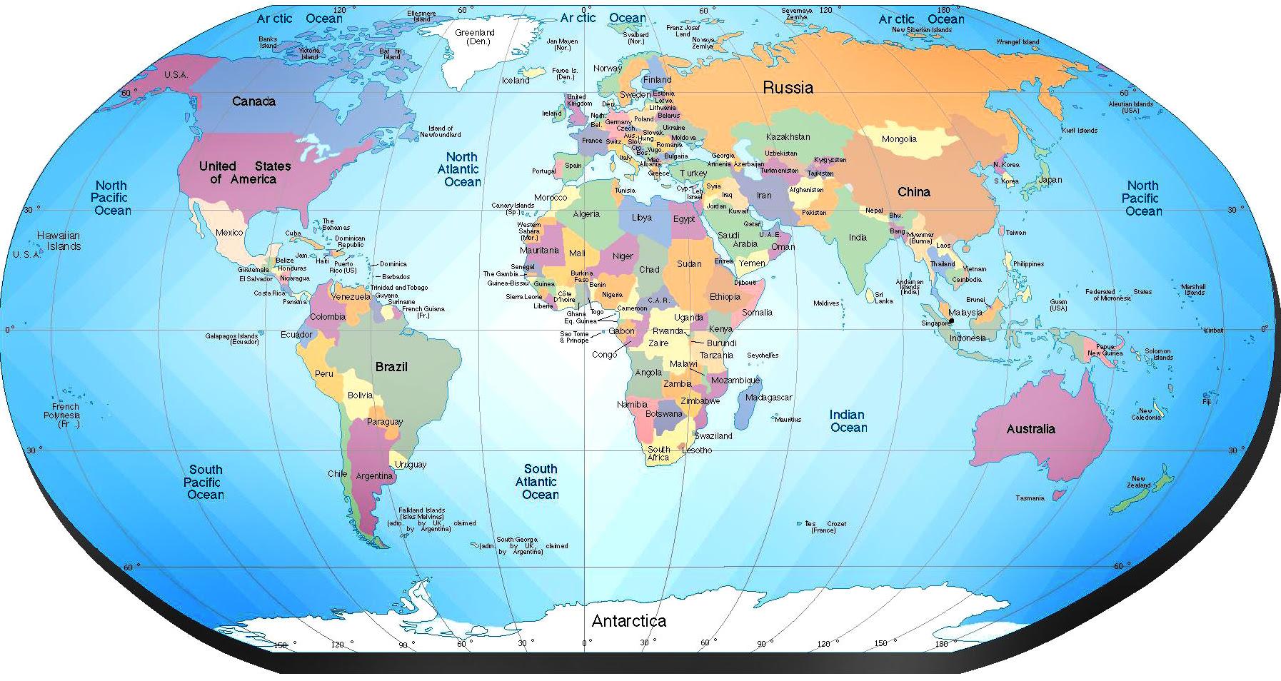 mapa politico del mundo 81