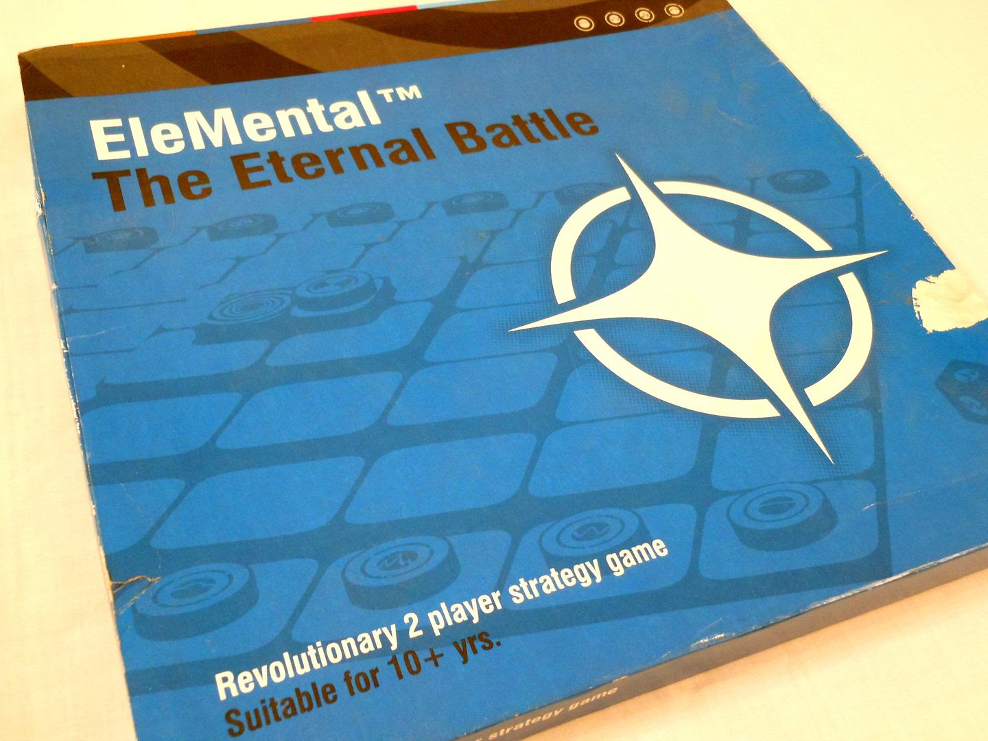 The box from the pre-production prototype of EleMental.