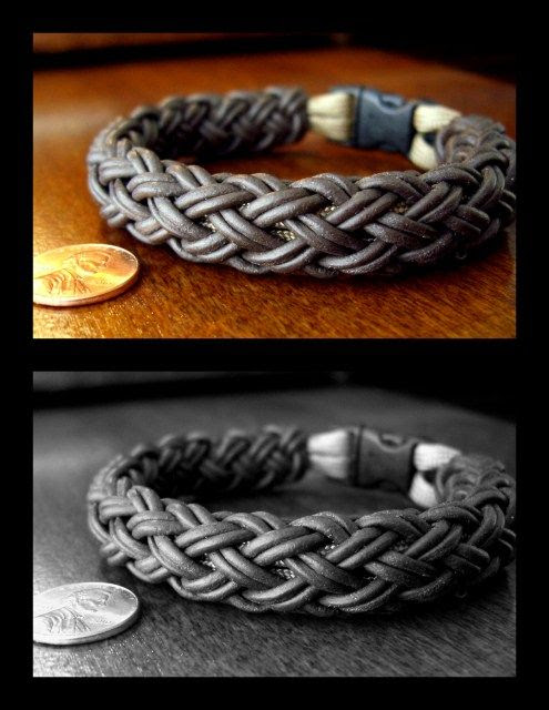 Stormdrane's Blog: leather turk's head knot bracelet.
