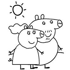 peppa pig coloring pages at getdrawings  free download
