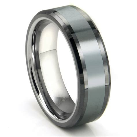 2019 Popular Tungsten Hammered Wedding Bands
