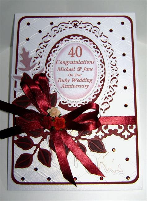 and 40th Ruby Anniversary   Cards Wedding & Anniversary