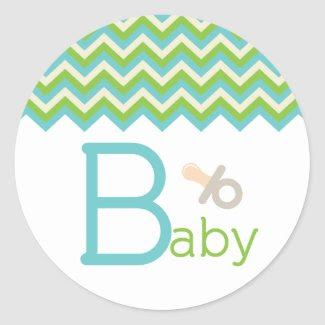 Baby Shower Cupcake Topper/Sticker
