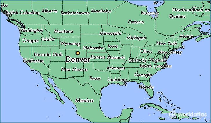 Denver On A Us Map Denver On A Us Map | GOOGLESAND