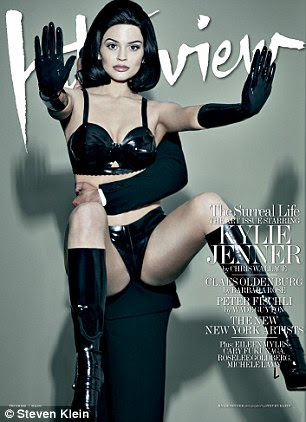 She's got the look: Kylie stars on different covers for the shoot, which is no doubt likely to raise eyebrows