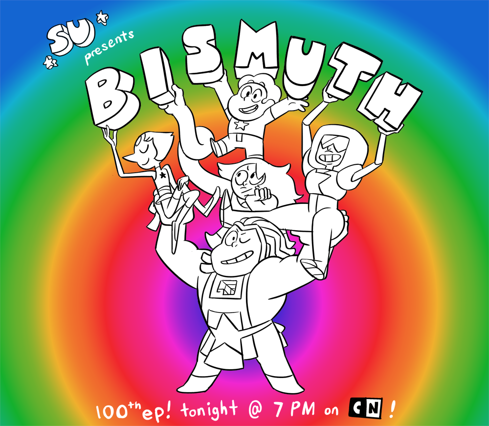 BISMUTH? Who the heck is THAT?? Find out TONIGHT at 7 PM! A special 2-part episode boarded by Katie Mitroff, Lamar Abrams, Jeff Liu, and myself! Don't miss out!
