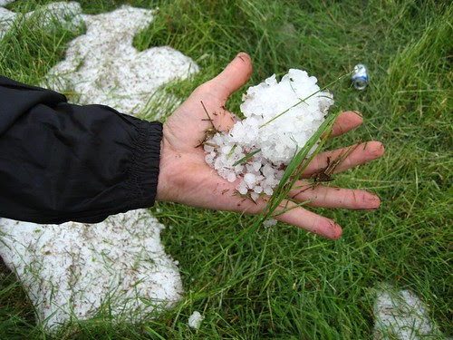 Handful of hail on August 3rd