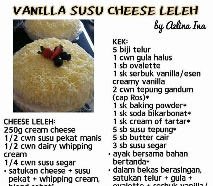Resepi Kek Cheese Leleh Azlina Ina Santapan Senja