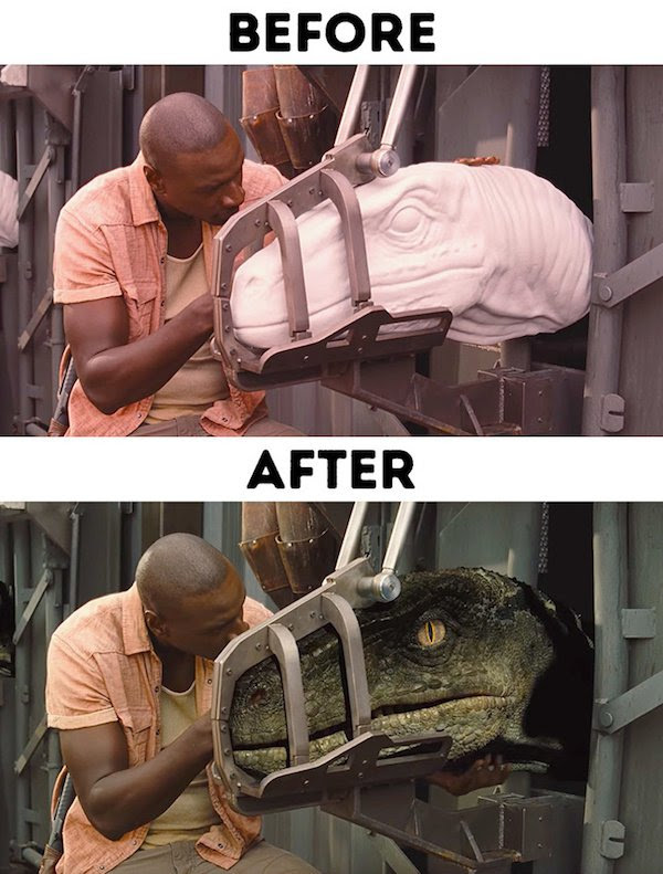 29 - 30 before and after special effects scenes