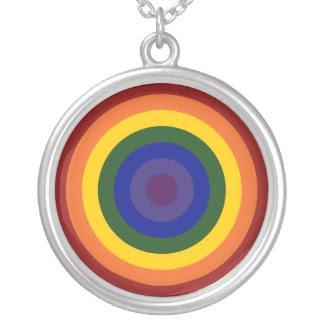 Rainbow Bullseye Custom Jewelry