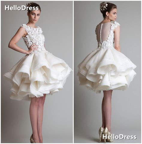 Best 25  White short wedding dresses ideas on Pinterest
