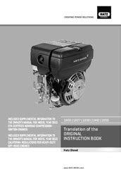 Hatz Diesel 1B50 Manuals