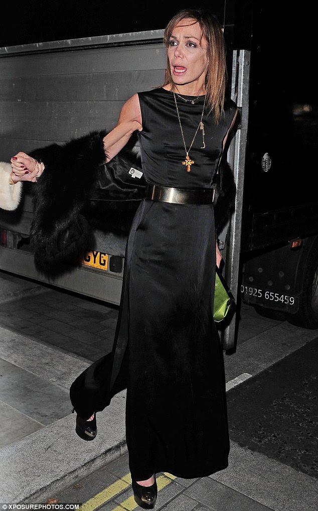 Tara Palmer-Tomkinson looks a little worse for wear after