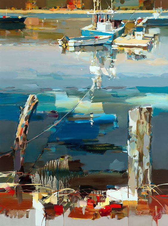 Cold Spring Harbor By Josef Kote, Acrylic Painting